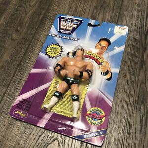 WWF(WWE) Justoys Bend Ems Rocky Mauvia Figure(The Rock) MOC Series 1997 NIB Rare