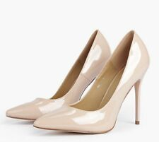 Matilda Patent Court Heels BEBO Nude Womens Shoes Natural Size 9