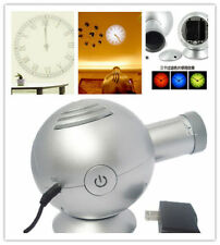 Hot 4th Gen Analog Projection Wall Clock BELL w/ LED Based Projector Cold Light