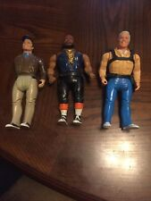 Three A-Team 6 Inch Figures 1983 Cannell Galoob Mr T / Murdoch / Hannibal