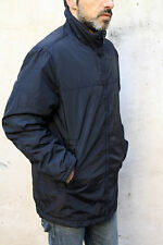 Gas Style Mens Jacket Nylon Shiny Black Zip Nigh neck Coat Jacket L Large