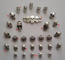 31 stück Skull Set 18 Beads Großloch Perlen Paracord Lanyard Armband Totenkopf