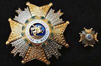 España Medalla militar Orden SAN HERMENEGILDO 1944/75 Placa y Pin Nº 55