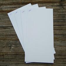 """White Styrene Sheet 6"""" x 12"""" Assortment .02"""" .03"""" .04"""" .06"""" polystyrene plastic"""