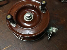 "Vintage Alvey 650 A3 6 1/2"" Wooden Spool Fishing Reel"