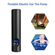 Portable 12V Electric Car Tire Air Pump Compressor 6000mAh For Ball Bike Bicycle