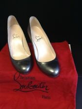 Christian Louboutin Broze Gold Cuir Cour Chaussures