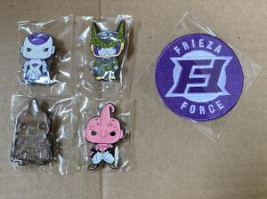 Funko Pop! Dragon Ball Z GameStop Exclusive Complete Enamel Pin Set + Patch