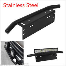 Black Stainless Steel Car Bull Bar Working LED Light Mounting Bracket Holder Kit