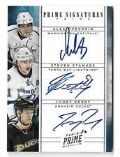 2011-12 Panini Prime Signatures Triple Autograph Ovechkin Stamkos Perry #3/10
