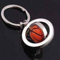 1Pc Keychain Keyring Rotating Basketball Fob Ball Key Ring Key Chain