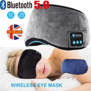 Wireless Bluetooth 5.0 Headbands Stereo Headphones Earphone Sleep Music Eye Mask