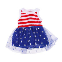 18inch Doll Party Outfit Lace Stripe Sleeveless Dress For AG American Doll Doll