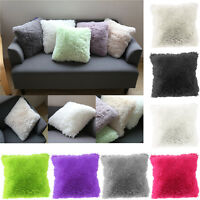 Fashion Throw Family Decoration Fur Fluffy Sofa Pillow Soft Plush Cushion Cover