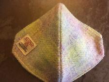 "Lovely Autumn 100% Silk-Lined ""Harris Tweed"" Pistachio & Heather Face Mask Adult"