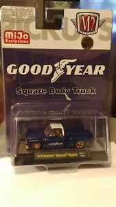 """M2 Machines Mijo Good Year 1973 Chevrolet Silverado """"Chase"""" 1/300 Mint Carded"""
