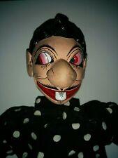 Vtg Javanese Hand Carved & Painted Gareng Punokawan Wayang Shadow Rod Puppet