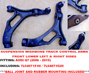 AUDI Q7 SUV 2006-2015 FRONT AXLE LOWER WISHBONE SUSPENSION ARMS