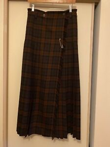 COUNTRY ROAD Celtic Floor Length Maxi Vintage Kilt Size 8 But Adjustable As New