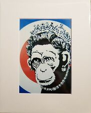 Banksy Print - Queen Monkey - Street Art Graffiti Stencil 5 x 7