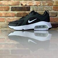Nike Air Max 200 Mens 9.5 Running Shoes Black White CI3865-001