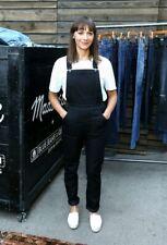 Madewell Women's Black Denim Cross-Back Overalls Straight Leg Size XS