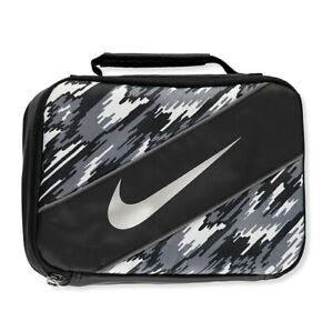 Nike Insulated Lunchbox Black White Swoosh