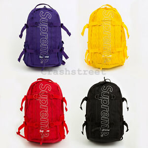 Supreme FW18 Backpack box camp cap tee logo bag shoulder waist duffle camo