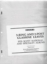 Pkg. 100 Glassine Interleaves for 3-Ring or 2-Post National or Specialty Acc107