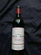 1986 Chateau Lynch Bages Pauillac Empty Bottle No Cork