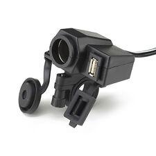 Motorrad Zigarettenanzünder USB Buchse wasserdicht Steckdose Adapter Lenker 12 V