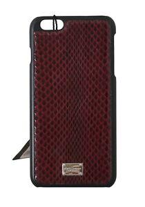 NEW DOLCE & GABBANA Phone Case Bordeaux Leather Cover Logo iPhone6 Plus