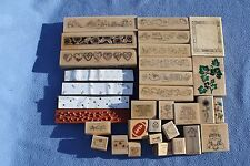 Lot 31 Rubber Stamps Stamping Up and more