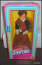 NRFB BARBIE  MATTEL VINTAGE 1980 AUBURN DOTW SCOTLAND SCOTTISH DOLL  #3263