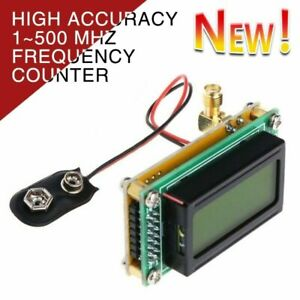 High Accuracy 1~500 MHz Frequency Counter RF Meter Tester Module For ham Radio