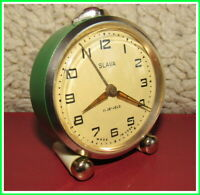 Modern Mechanical Alarm Clock Slava 11 Jewels Russian USSR Soviet 1959 #13321