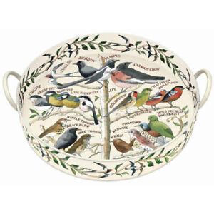 Emma Bridgewater Round Tray Garden Birds design Large with Handles Serving Tray