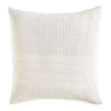 New Dkny City Pleat Acrylic Euro European Pillow Sham White Bedding H4040