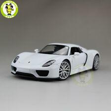 1/24 Porsche 918 Spyder Close Top Welly 24055 Diecast Model Racing Car White