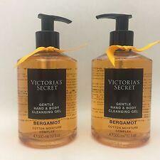 2 VICTORIA'S SECRET BERGAMOTTO delicato mano & corpo detergente gel 10 fl.oz