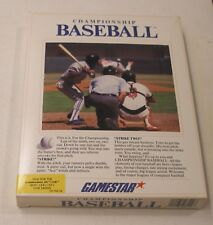 Championship Baseball by Gamestar for the Commodore 64/128
