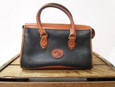 DOONEY & BOURKE Vintage Black & Tan Leather USA Classic Satchel Bag Purse *AS IS