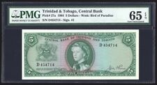 Trinidad and Tobago 5 Dollars 1964 P27a PMG Gem Uncirculated 65 EPQ