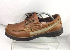 SureFit Comfort Shoes Barbados Boat  Brown Leather Mens Size 11 M
