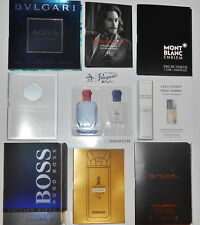 Mens Cologne Samples Paco Rabanne Hugo Varvatos D&G Bvlgari Original Penguin EDT