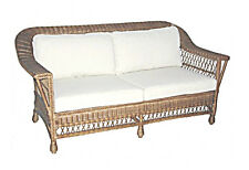 Barron Distressed Baltic Natural Rattan 2.5 Sofa with Beige Cushions  BRAND NEW