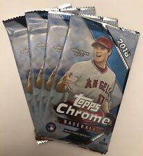 (4) Pack Lot 2018 Topps Chrome Baseball From Box