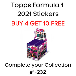 Topps Formula 1 Stickers 2021 Collection - Formula One Buy 4 get 10 Free