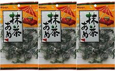 3 BAGS Kasugai Green Tea Matcha Ame Hard Candy Japan 4.58 oz