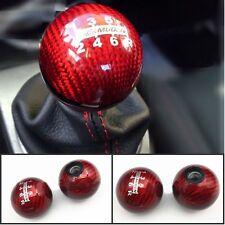 Carbon Fiber Red Mugen Shift Knob For Honda EK9 EP3 FN2 DC2 DC5 S2000 FD2 FA5